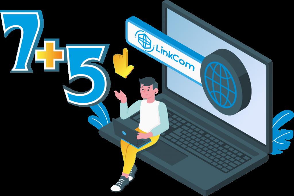 """Акція """"7+5"""" для нових абонентів LinkCom"""